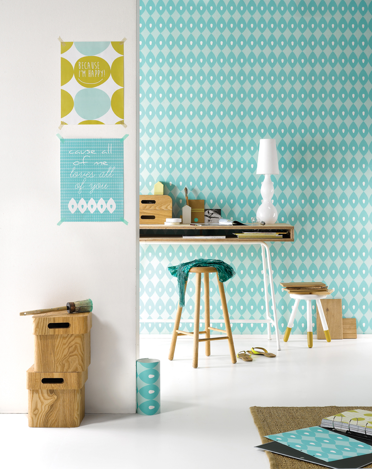 Roomblush papier peint vintage la nouvelle collection - Keuken coloree ...